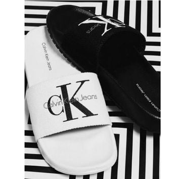 Calvin Klein Casual Fashion Women Sandal Slipper Shoes