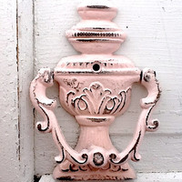 Pink Door Knocker, New House, Distressed Aged, Vintage Decor, French