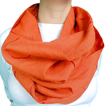 Orange Scarf, Infinity, Spring, Easter Color, Easter Scarf, Summer, Womens Scarf, Oversize Scarf, Extra Long Scarf, Mothers Day, Gift