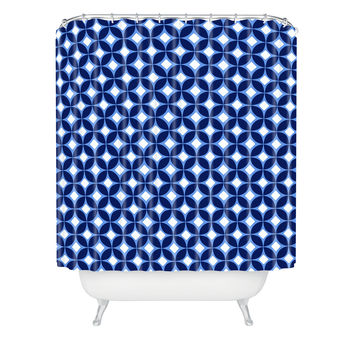 Caroline Okun Indigo Shower Curtain