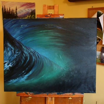 $150.00 Ocean oil painting Otherside by CJacobsonArt on Etsy