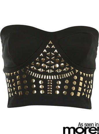 Stud Bandeau Bra Top - Tops  - Apparel  - Miss Selfridge US