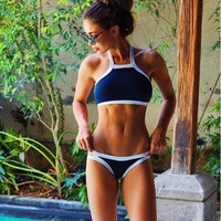 Sexy halter High neck Bikinis set 2017 Swimwears Women maillot de bain Swimsuit bathing suit