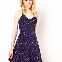 Lovestruck Bird Print Halterneck Dress at asos.com