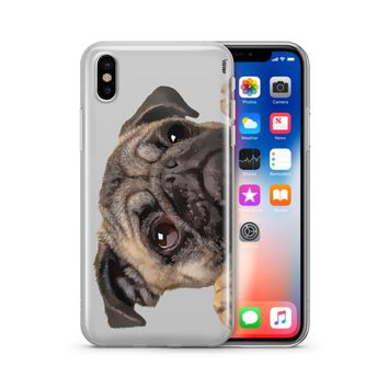 Cry Baby Pug - Clear Case Cover Phone Case
