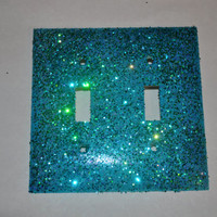 Mermaid Scales Double Glitter Switch plate
