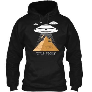Ancient Alien Theory Novelty  - UFO Conspiracy  Pullover Hoodie 8 oz