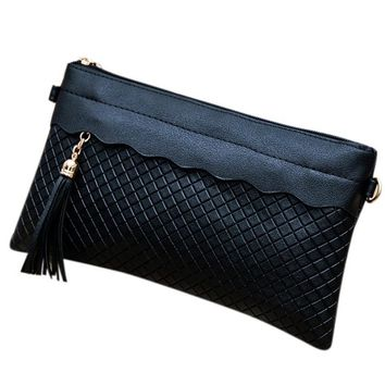 Women Weave Tassel Pattern Ladies Purse