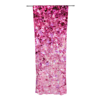 "Ebi Emporium ""Romance Me"" Pink Glitter Decorative Sheer Curtain"