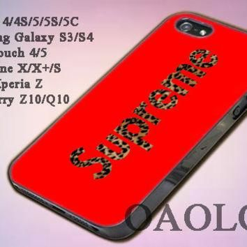 Case for iPone 4/4S/5/5S/5C, Samsung Galaxy S3/S4, iPod Touch 4/5 design Supreme Leopa