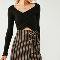 Silence + Noise Delaney Surplice Sweater   Urban Outfitters