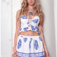 Two Piece Set With Shorts