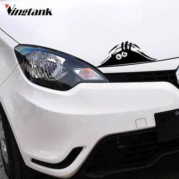 Vingtank A Peeking Monster Car Sticker Decals Wall Sticker Waterproof Fashion Funny Car Styling Accessories 7.5*2.8""
