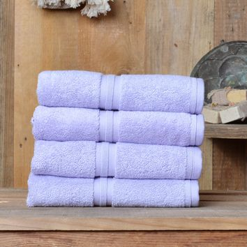 [4 Pieces] Minteks Luxury Turkish Hand Towels | 16 x 28 inches, 100% Cotton 700 Gsm Plush Towels