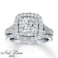 Neil Lane Bridal Set 2 1/4 ct tw Diamonds 14K White Gold