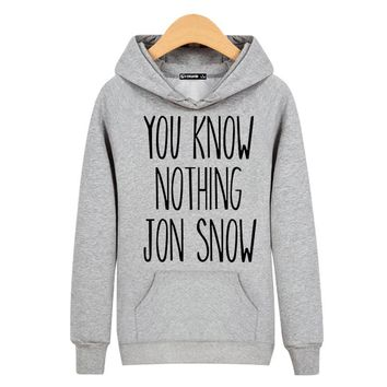 JON SNOW Sweatshirt Black for Street Wear Hoodies