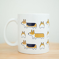 Corgis All Around ceramic mug