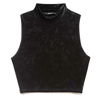 Must-Have Velveteen Crop Top