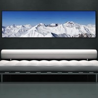 canvas painting landcape snow mountain art print  wall picture and posters picture wall art Painting decoration for living room