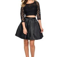Short Homecoming Two Piece Dresses Formal Cocktail