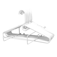 Evelots Wall Mounted Clothes Hanger Organizer, Closet and Laundry Storage