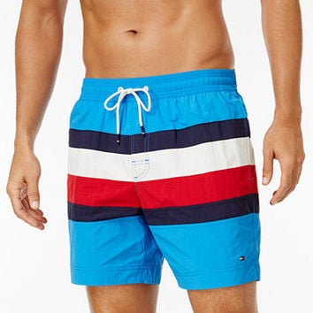Tommy Hilfiger Men's Gabriel Swim Trunks | macys.com