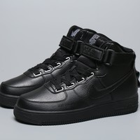 DCCK Nike AIR FORCE 1 AJ7311 001 Nike AIR FORCE 1 AF1 co-branded high top casual board shoes black