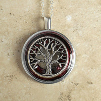 Tree of Life Necklace: Wine - Wiccan Pendant - Celtic Jewelry - Tree Jewelry - Mothers Day - Unique Jewelry - Pendant Necklace