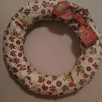 SALE Paper ribbon wreath