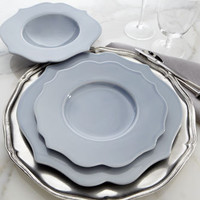"12-Piece ""Scalloped Baroque"" Dinnerware - Horchow"
