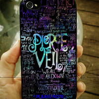 Pierce The Veil Logo Quote Galaxy Nebula iPhone Case 4 / 4S / 5 Case Samsung Galaxy S3 / S4 Case