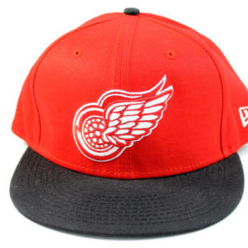 New Era 950 Detroit Red Wings Red/Black Snapback Hat Adjustable Size