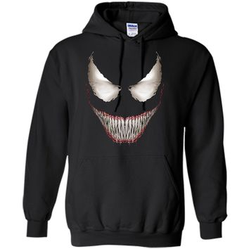 Marvel Venom Big Face Grin Halloween Costume Graphic  Pullover Hoodie 8 oz