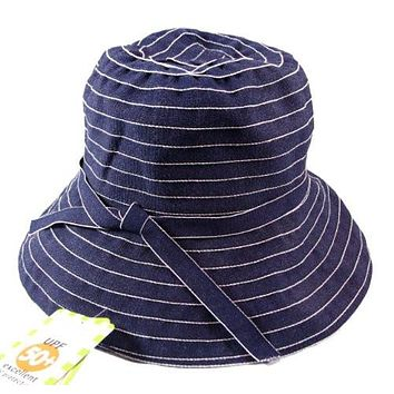Jeanne Simmons Twill Travel Bucket Hat for Women - UPF 50+ UV Sun Protection (Blue Denim)