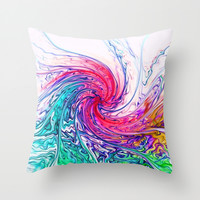 True Colours Throw Pillow by ALLY COXON