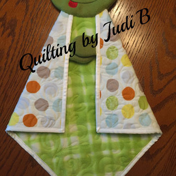 Maddy's Lovie Frog - Security Blanket - Baby Shower Gift - Choice of Colors!