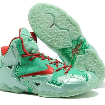 Lebron 11 Xi P.s Elite Christmas Red Sneaker Shoe