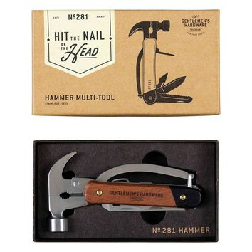 WILD AND WOLF WOOD STAINLESS STEEL HAMMER MULTI-TOOL