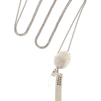 Chan Luu - Silver, pearl and quartz necklace