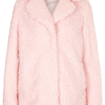 Teddy Fur Pea Coat - Cocoon Coats - Coats - Clothing - Topshop USA
