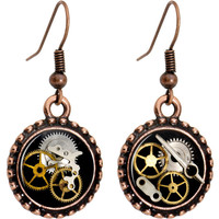 Handcrafted Steampunk Pocket Watch Movement Earrings