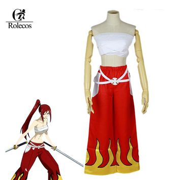 Rolecos Brand Japanese Anime Fairy Tail Cosplay Costume Erza Scarlet Cosplay Costume Unisex Halloween Costume