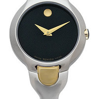 Movado 0605248 Kara Two Tone Black Dial Watch