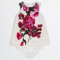 A line dress in printed cady with pants, abbigliamento newborn girl women | Dolce&Gabbana