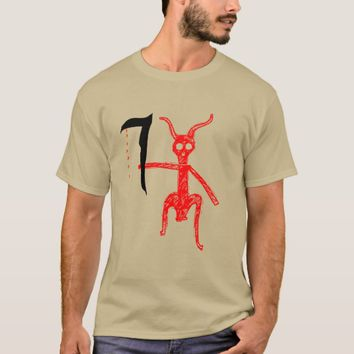 Red Demon with weapon T-Shirt