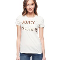Logo Juicy Stacked Tee by Juicy Couture,
