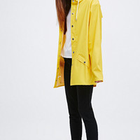 Rains Jacket in Yellow - Urban Outfitters