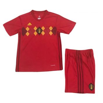 KUYOU Belgium 2018 World Cup Home Kids(Youth) Kit Personalized Name and Number