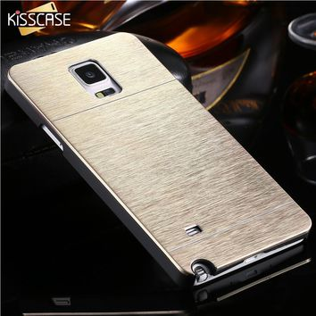 KISSCASE Note 4 Capa Case Aluminum Phone Cases For Samsung Galaxy Note 4 IV N9100 Vintage Hard Deluxe Gold Back Cover Shell