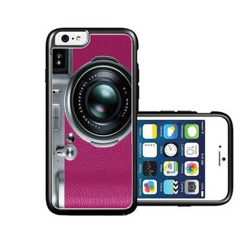 RCGrafix Brand Pink Retro Camera iPhone 6 Case - Fits NEW Apple iPhone 6